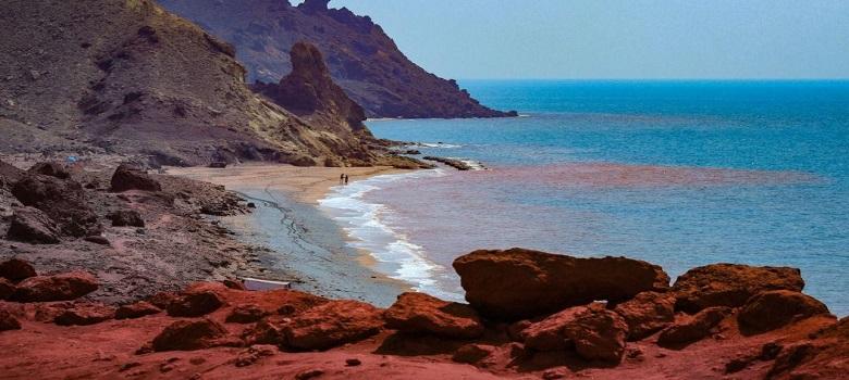 Red Seashore Hormoz Island, Qeshm, Iran