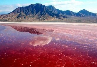 Salt lake, Hot spring in Iran