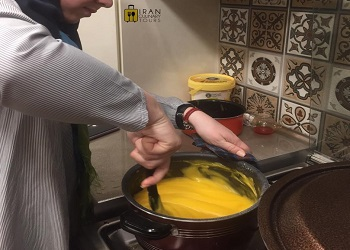 Pâtisserie traditionelle en Iran