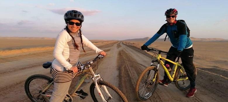 Radfahren in Zagros, Reise in den Iran