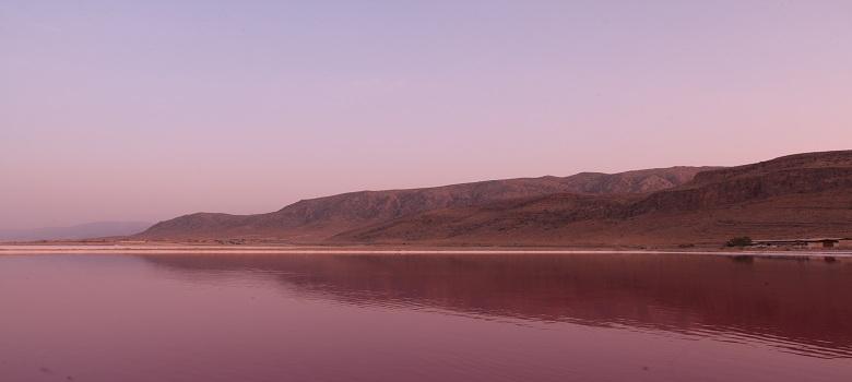 Landscape of Natural Salt lakes of Iran