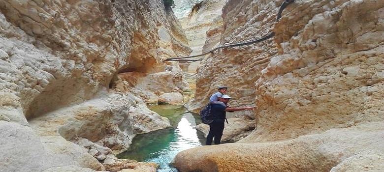 Monte de sel a Jashk, Iran
