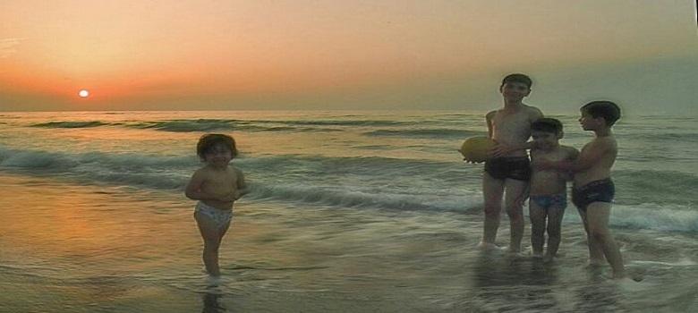 Un grand plaisir de nager au Golfe Persique