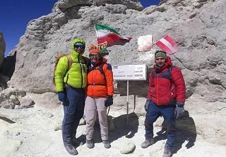 die Damavand Trekking Tour-die northeastern flank des Damavand berg
