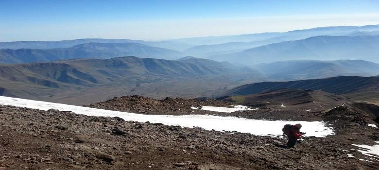 die Tour zur nordöstlichen Flanke damavand des Iran-