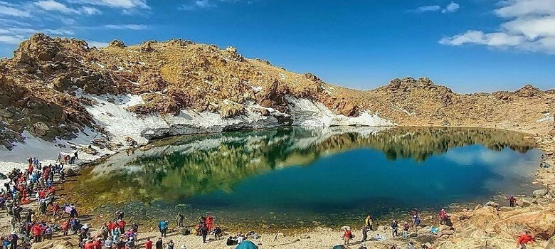 die Tour zum Iran-der Sabalan Berg