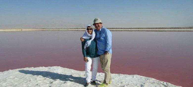 Iran Beautiful Pink Lake